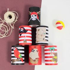 Deco Pirate, Pirate Theme, Decoration Pirate, Villains Party, Pirate Activities, Paper Party Decorations, Pirate Crafts, Pirate Birthday, Diy Party