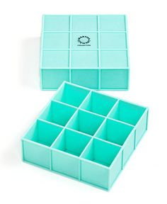 Silicone Ice Cube Trays, they make wonderful, large square cubes for mixology, desserts, frozen fruit juices and more. From the Martha Stewart Collection at Macy's