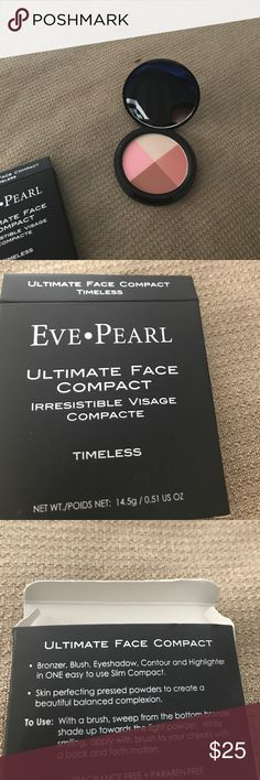 🎉HOST PICK🎉Eve Pearl Ultimate Face Compact Bronzer, Blush, Eyeshadow, Contour and Highlighter in ONE easy to use compact! Eve Pearl Makeup