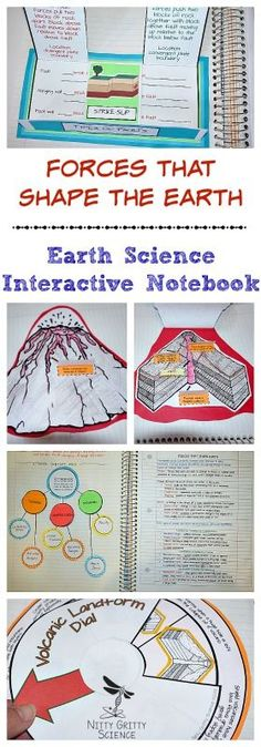 Forces That Shape The Earth, Earth Science Interactive Notebook: Plate Tectonics includes the following concepts: •	Forces that Shape Earth •	Earthquakes •	Volcanoes •	Volcanic Landforms