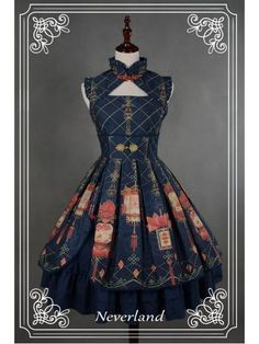 Lolita style doesn't normally appeal to me, but I like the structured cut and lines of this dress.: