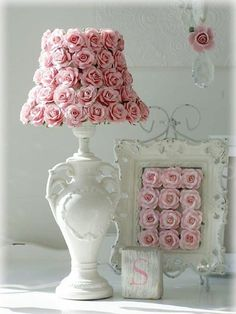 shabby chic rose shade and frame More