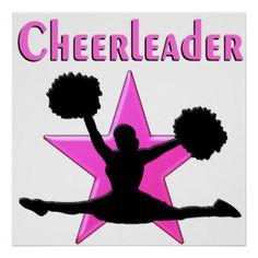PINK STAR CHEERLEADER POSTER Awesome selection of Cheerleading Posters to inspire you fantastic Cheerleader. http://www.zazzle.com/mysportsstar/gifts?cg=196898030795976236&rf=238246180177746410 #Cheerleading #Cheerleader #Cheerleadergift #Lovecheerleading #Cheerleaderposter #Cheerleadingposter