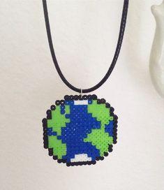 ~Earth~ Mini Perler Bead Necklace