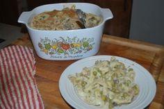 TUNA-NOODLE CASSEROLE  LUNCH/ DINNER  http://foodstoragemadeeasy.net/2011/01/22/shelf-stable-recipes-tuna-noodle-casserole/
