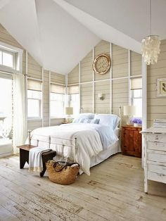 painted floors are always shown with ship lap or bead board.  Love the warn look