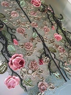 Ася(Галина ) Вертен. Irish crochet. Freeform. Motifs. Dress. Ирландское кружево…