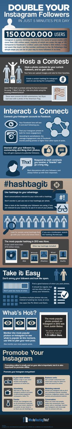 Double Instagram Followers Organically In Just 5 Minutes A Day [Infographic]