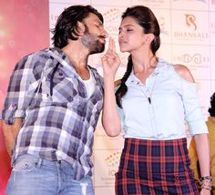 Ranveer Singh and Deepika Padukone at a promotional event for their upcoming 'Ram-Leela', held at Affinity mall in Mumbai. #Bollywood #Fashion #Style #Beauty