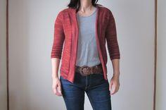 Ravelry:  Featherweight Cardigan pattern by Hannah Fettig malabrigo lace