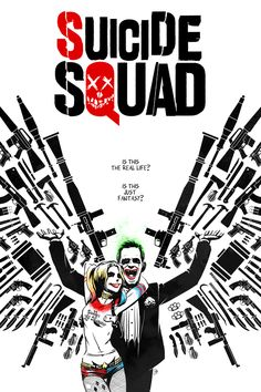 """theandrewkwan: """"Loved the new Suicide Squad trailer and once again- Bohemian Rhapsody is stuck in my head! Inspired by both the trailer and Alex Ross' Harley Quinn/ Joker cover """""""