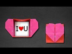 Origami: Heart Box & Envelope - YouTube