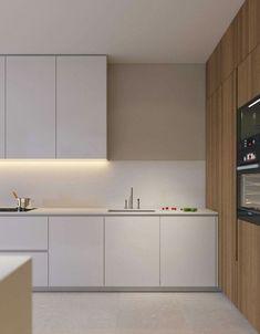 Kitchen Decor Themes, Home Decor Kitchen, Kitchen Interior, Interior Design Living Room, Home Kitchens, Minimalist Kitchen, Minimalist Interior, Cocinas Kitchen, Cuisines Design