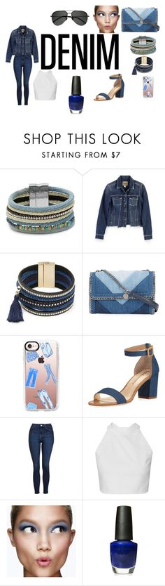 """""""Denim Outfit"""" by lavenderlily15 ❤ liked on Polyvore featuring Design Lab, Paige Denim, STELLA McCARTNEY, Casetify, Neiman Marcus, Topshop, Clinique, OPI and Yves Saint Laurent"""