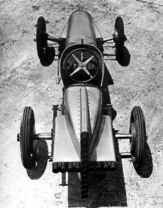 "Rocket car in Florida, circa 1930, built by Sig Haughdahl, racing garage owner and ""fireworks expert""."