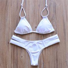 Push Up Retro Tassel Bikini