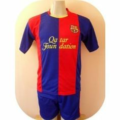 """BARCELONA SOCCER KIDS SETS JERSEY & SHORT SIZE 12 .NEW by WALAS. $25.99. UNIFORM. NEW. SOCCER  KIDS SET. GREAT QUALITY. JERSEY & SHORT. NEW BARCELONA SOCCER KIDS SET SIZE 12  A MUST HAVE FOR A REAL SOCCER FAN!   BRAND NEW IN BAG  SIZE 12  FOR 9-10 YEARS 17"""" ARMPIT TO ARMPIT AND 23"""" NECK TO BOTTOM.  GORGEOUS SET.EMBROIDERY BARCELONA LOGO.  100% POLYESTER.GREAT QUALITY.  FAST SHIPPING VIA USPS 2-4 WORKING DAYS ANYWHERE IN USA."""