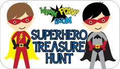 Superhero party games and superhero activities