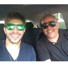 Lucas with his friend Gagau Tavares in Rio de Janeiro, Brazil | June 07, 2015