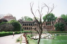 Ferozeshah tomb at the left end with Northern limb of the Madrasa