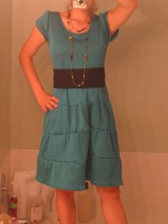 Teal Tiered Dress with Black waistband [now with tutorial, pg 2] - CLOTHING