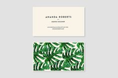 Monstera Pattern Business Card by Design Co. on @creativemarket