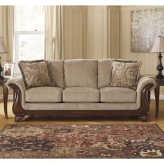 Lanett - Barley - Sofa by Signature Design by Ashley. Get your Lanett - Barley - Sofa at American Furniture, Brooklyn Park MN furniture store. Best Sofa, Ashley Furniture, Traditional Furniture, Furniture Sale, Furniture, Love Seat, Fabric Sofa, Living Room Sofa, Living Room Furniture Sale