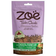 Zoe Tender Chunks Chicken & Parmesan Dog Treats 5.3 oz