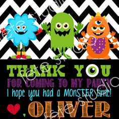 Monster Favor Tag by fetestudio on Etsy, $4.00