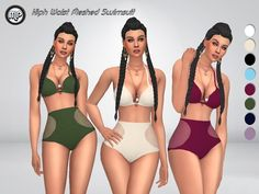 MartyP's MP High Waist Meshed Swimsuit
