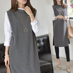 Business Casual Outfits, Casual Fall Outfits, Casual Dresses, Modest Fashion, Hijab Fashion, Fashion Dresses, Fashion Sewing, Classy Dress, Mode Inspiration