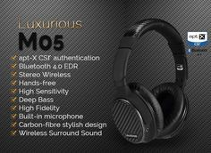 7f448f6d60b Details about Ausdom M05 Wireless Bluetooth 4.0 Stereo Headphone Headset  Earphone with Mic Over Ear Headphones
