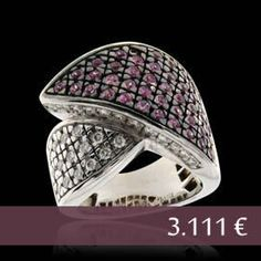 Ring 18Kt Wg & Diamond - Pink Sapphires Clarity: VS-Si / Metal: 18kt WG / Carats: 0.54 ct Price: 3.111 € Euro Direct with the owner in southern Europe -   Email: andersonweb@outlook.com