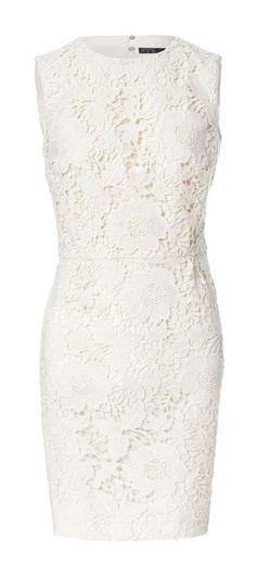 robe blanche dentelle, classe!pinup dress