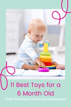 Baby Development - 11 Best Toys for 6 Month Old Baby! What would a baby aged 6-12 months love to play with? To improve your baby's development, we have a list of the 11 best toys for 6 month old babies. #babytoys #babygear 6 Month Old Toys, Six Month Old Baby, Toys For 1 Year Old, Toddler Sleep, Toddler Toys, Sophie Giraffe Teether, Toys For Boys, Kids Toys, Best Baby Bouncer