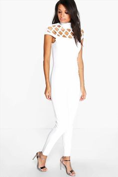 520ff11a5189 boohoo Anni Statement Neck Skinny Leg Jumpsuit - ivory Jumpsuits are your  day-to-night dress alternativeYour style inspiration starts with a jumpsuit.
