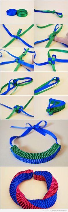 Tutorial pulsera de nudos con cintas de raso