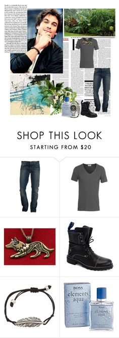 """""""``pages of the past."""" by mars-phoenix ❤ liked on Polyvore featuring Nicki Minaj, Gilded Age, American Vintage, Guide London, John Fluevog, FOSSIL, HUGO and Salvatore Ferragamo"""