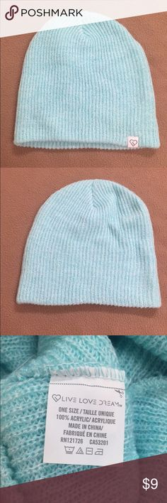 52e03376134 Shop Women s Aeropostale Blue size OS Hats at a discounted price at  Poshmark. Description  This cute blue beanie is in great shape!