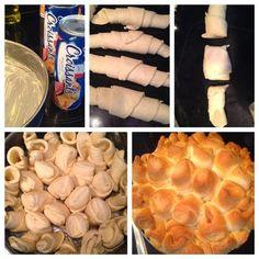 Wat is er toch ontzettend veel mogelijk met croissantdeeg. Dit keer een plukbrood die ik al op meerdere manieren heb gemaakt. Naturel, hart...