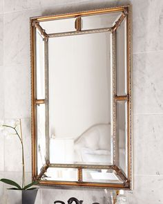 Beveled-Frame Mirror at Neiman Marcus, Reg price is $425, on sale today 11/16 for $326 (25% off) but shipping is $105 (outrageous fee, will say so on NMs FACEBOOK page), back ordered 'til 12/6/13.