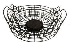 3 Piece Metal Round Wire Kellan Basket Set