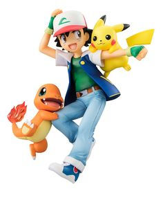 G.E.M. Series - Pokemon: Ash & Pikachu & Charmander Complete Figure