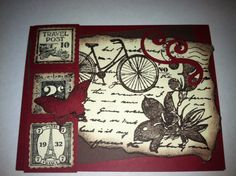 """Made with Stampin' Up! """"Postage Due"""" stamp"""