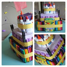 Teacher Appreciation school supply 'cake'
