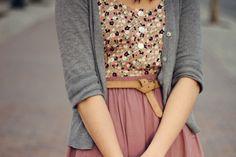 Grey, mauve & floral