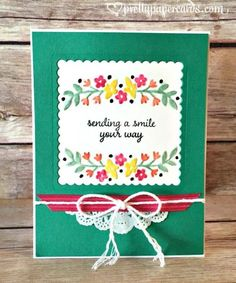 A Dozen Stampin' Up! Card Ideas to Inspire You! (Mary Fish, Stampin' Pretty The Art of Simple & Pretty Cards) Hand Made Greeting Cards, Greeting Cards Handmade, Card Making Inspiration, Making Ideas, Stampin Pretty, Stampin Up Catalog, Stamping Up Cards, Paper Cards, Fun Cards