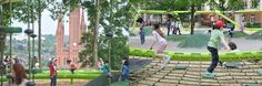 Archkids. Arquitectura, urbanismo y diseño infantil innovadores. Innovative architecture, urbanism and design for kids. Public Spaces, Playground, Dolores Park, Sculpture, Travel, Innovative Products, Parks, Architecture, Children Playground