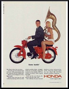 Classic Honda Motorcycle Poster Lightweight Bikes Reproduced From The Original 1975 Range Brochure