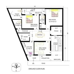 Basement House Plans, Home Design Plans, Beautiful Homes, Triangle, Floor Plans, Houses, House Design, How To Plan, Youtube